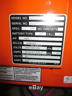 Chargeur De Batterie Industriel De Chariot Élévateur De Gnb Gtcii18, 36v 144a 865 Ah 208/240/480