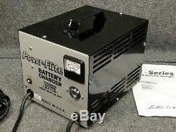 Chargeur De Batterie Lester Electrical Powr-flite 24v CC 21 A Ec24pf Sb50 Rouge Nouveau