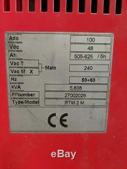 Chargeur De Batterie Monophasé Nuova Electtra Forklift 48 Volts Rtm-2 M