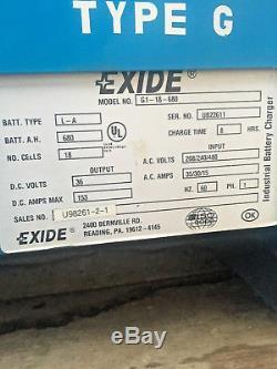 Chargeur De Batterie Pour Chariot Élévateur Exide 1000