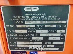 Chargeur De Batterie Pour Chariot Élévateur Ferro Five Power Series Fr12ce550m De C & D, 24 Volts