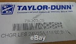 Chargeur De Batterie Taylor Dunn 79-303-05 Chariot De Golf, Élévateur À Ciseaux 24 Volts