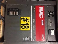 Chargeur De Chariot Élévateur Mac 24v Modèle 12m725b Série F4008 45539 Utilisé En Bonne Cond
