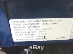 Crown Chariot De Batterie, 24v, 143a, 12 Cell, Modèle Cr12fr3b-750