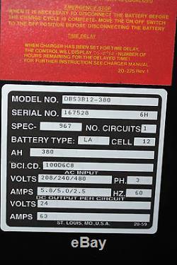 Dbs3b12-380 Douglas 3phase Automatique Chariot Élévateur Industriel 24 Volt Chargeur De Batterie