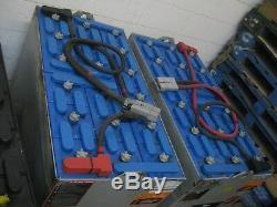 Deux (2) Batteries Combo Chariot Élévateur Reconditionné À 36 Volts Batteries -18-125-17-sav $