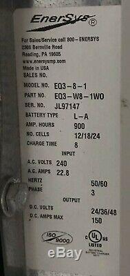 Enersys Exécuteur Hfiq 240v 24/36 / 48v 900amh Chariot Élévateur Chargeur De Batterie Withmount