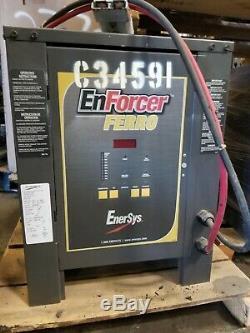 Enersys Ferro Enforcer 24v 208v 1ph Numérique Chariot Élévateur Chargeur Condition Grande