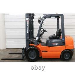 Ep Heli Cpyd-25s 5000lbs Gpl Propane Forklift Avec Side Shift 189 Max Height