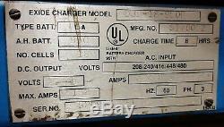 Exide Chariot Chargeur De Batterie, 36v, 950ah, 220v 3 Phase