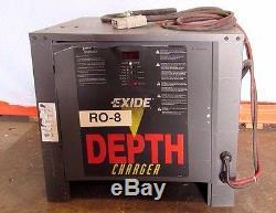 Exide D3e2-18-550, 36v Dc, Chargeur De Batterie 3pf De Gros Chariot Élévateur