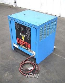 Exide D3e-12- 550 Chargeur De Batterie De Chariot Élévateur 208/240 / 480v 3ph (e8104) (e9131)