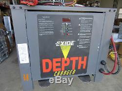 Exide Depth Forklift Chargeur De Batterie 36v 680 Ah 208/240 / 480-3 Vgc! Livraison Gratuite