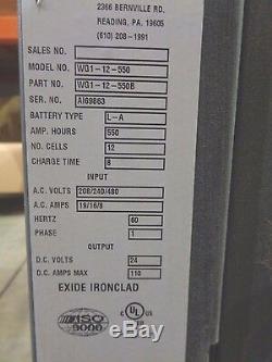 Exide Or Wgi-12-550b, Chargeur De Batterie 24v Chariot Élévateur