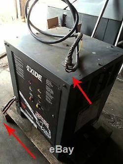 Exide Yuasa Workhog 24vdc, 208-240-480vac Chargeur De Batterie Industriel, 1 Ph, Utilisé