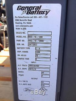 General Battery Deluxe Charger Contrôle Chariot Élévateur Multi-shift Mx3-18-1200