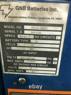 Gnb Ferrocharger 24 Volts Unique Chargeur De Prise De Palette De Chariot Élévateur À Fourche De Phase