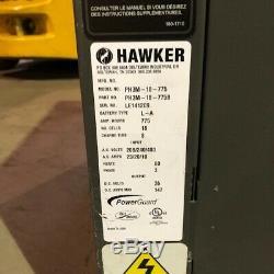 Hawker 36 Volt Chariot Élévateur Occasion Chargeur 3 Phase 775 Amp Heures
