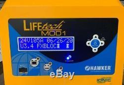 Hawker Lifetech Mod 1 Chariot Élévateur Chargeur 24v DC Ltm1-24c-105g 208 Ac Monophasé