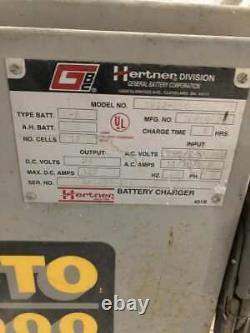Hertner Auto 6000 Tw12-550 Chargeur De Batterie Chariot Élévateur 24vdc 550ah L-a 3ph 8hr