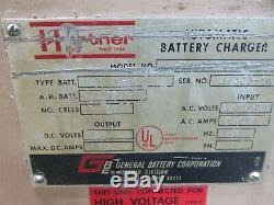 Hertner Chariot Chargeur De Batterie 36 Volt L-a 1050 A. H. Batt 3 Phase A 240/280