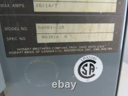 Hobart 540b1-12r 208-230 / 460v Entrée 12 Cellule 24vcc Chariot Chargeur De Batterie