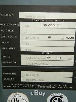 Hobart Accu-charge Chargeur De Batterie 510b1-6 Autolaveuse 12 Volts