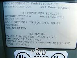 Hobart Accu-charge Chariot Élévateur Chargeur De Batterie 24 Volts 600c3-12 510c3 12 Cellules