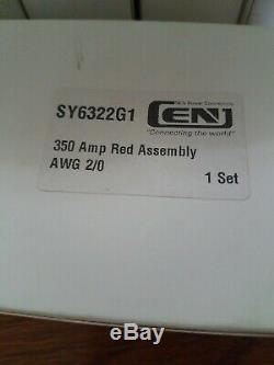 Lot 19 Sb350 Sy6322g1 Batterie Et Chargeur Élévateur Connecteur Rouge 350a 2/0 Contacts