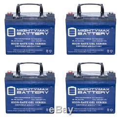 Mighty Max 12v 35ah Gel Batterie Pour Namco Fourche G2000 G2500 L2000 4 Pack