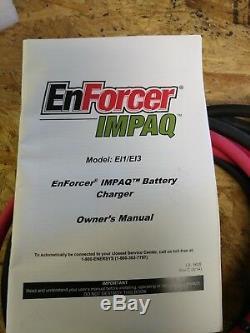 Nouveau Chargeur De Batterie Automatique Enforcer Impaq Chargeur De Batterie 24 Volts Nib