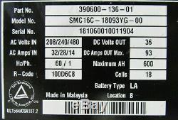 Occasion V Force Smc16c-18093yg-00 Chargeur De Batterie De Chariot Élévateur 36v 390600-136-01