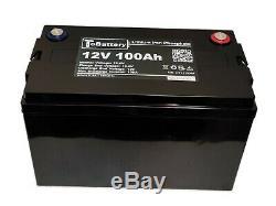 Tobattery Lfp12100ap 12v 100ah Lifepo4 Batterie Pour Voiture De Golf, Chariot Électrique